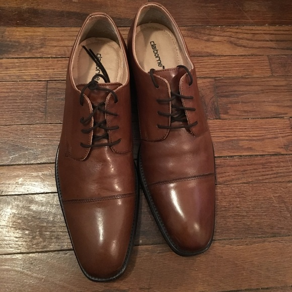 NWT claiborne MENS NEW  LEATHER OXFORD SHOES13m