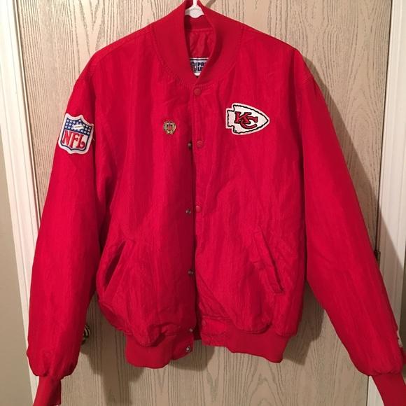 ab983069 Old school kc Chiefs starter jacket