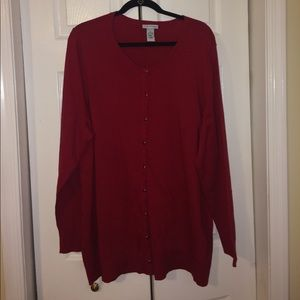 Catherines Sweaters Plus Size Classic Red Cardigan Sweater Poshmark