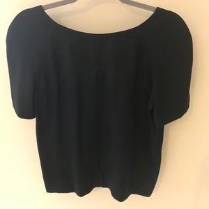 Chloe short sleeve top with low scoop back