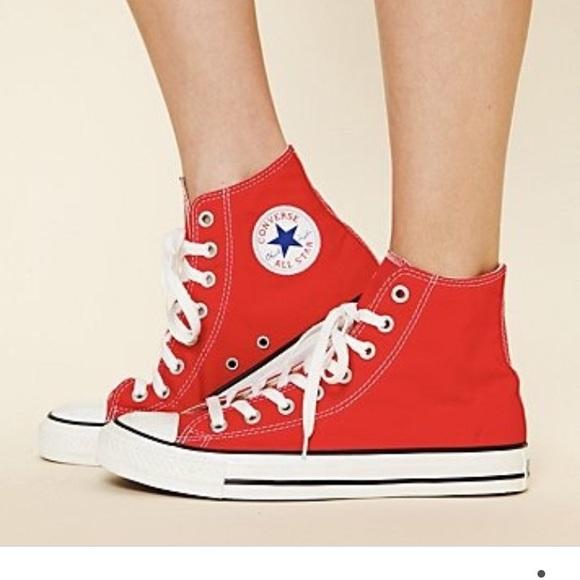 Converse Shoes   Red Hi Top Converse