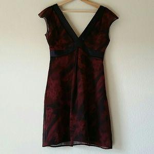 Boss by Hugo Boss Silk Maroon Dress size 8