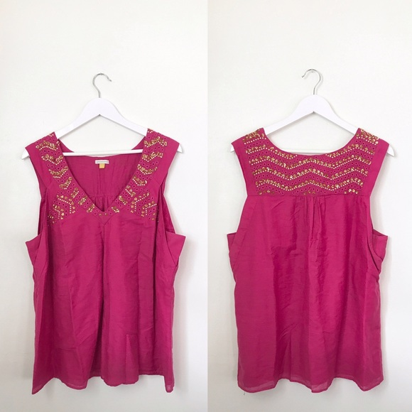 807335aef08ac Anthropologie Tops - Anthropologie Leifsdottir Sleeveless Sequin Tank
