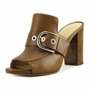 NWT Michael Kors Cooper Mule Leather Block Heels