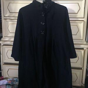 INC Peacoat with Flare Peplum Style Long Coat XL