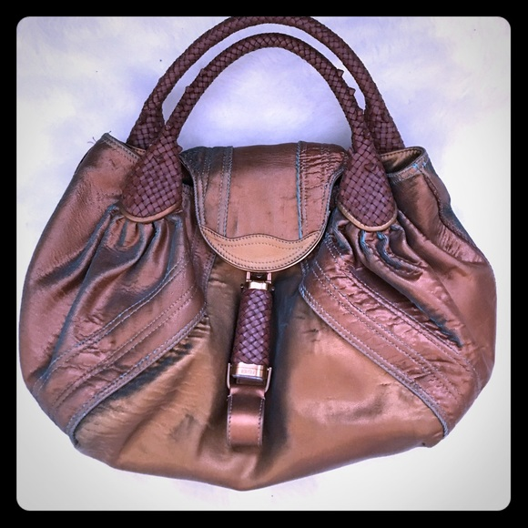 6cd05f91973f Fendi Handbags - Fendi spy bag in bronze hologram