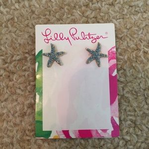 NWT Lilly Pulitzer starfish earrings BOGO50% off