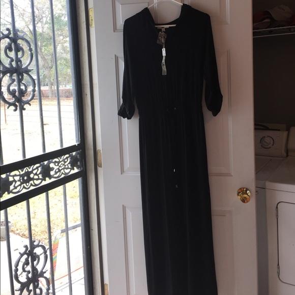 Ya Los Angeles Dresses Black Hooded Maxi Dress Sz Small Poshmark