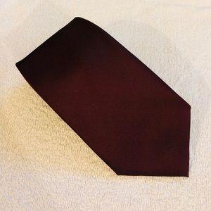 Perry Ellis Solid Maroon Silk Tie