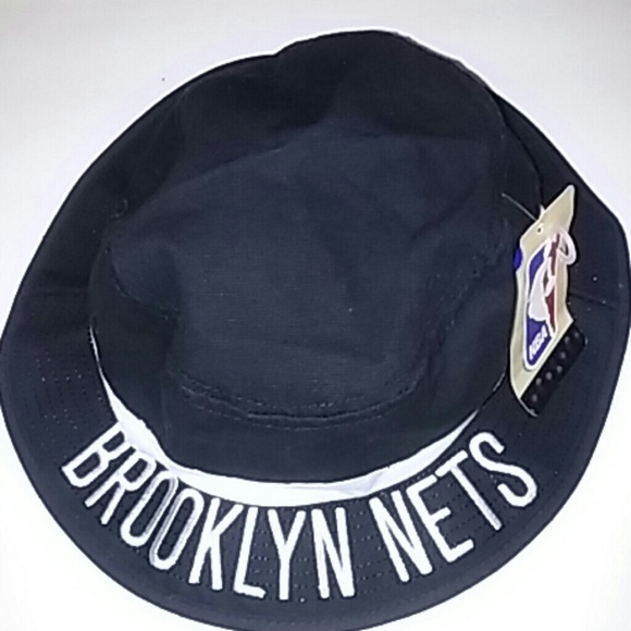8a3a457c0f NWT NBA Adidas Brooklyn Nets Black Bucket Hat S M