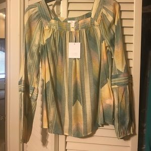 LC Lauren Conrad Peasant Top NWT!!!