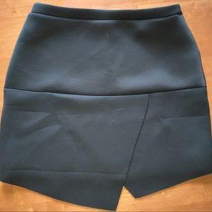 ASOS Skirt Green Size 10 Asymetrical