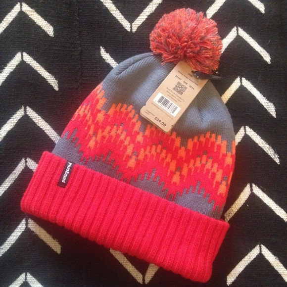 78d65b13 Patagonia Accessories | Nwt Powder Town Beanie Hat Timber Stripe ...