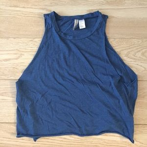 Blue Muscle Tank Tee Super Soft