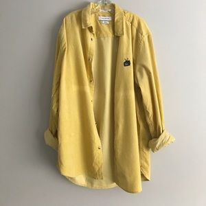 Urban Outfitters Yellow Corduroy shirt