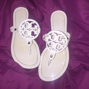 Tory burch miller sandals looking to trade