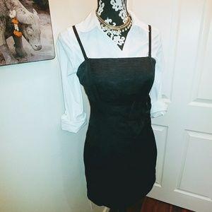 H&M Black Spaghetti Strap Versatile Bow Dress