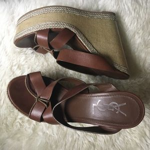 Brown Leather Yves Saint Laurent Sandals Sz. 38