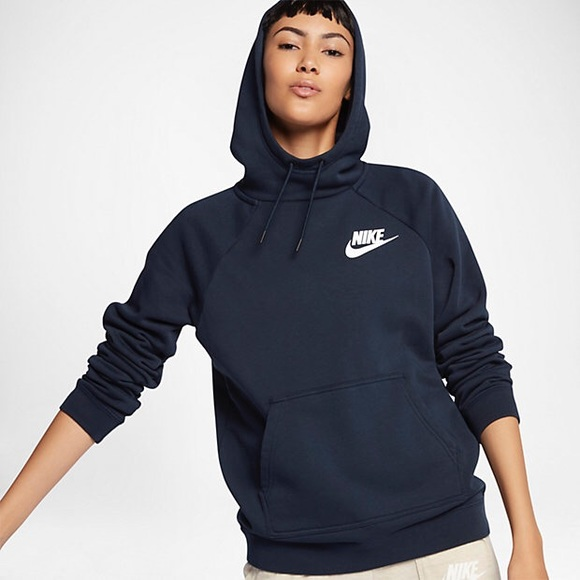 ca5a6f94858c Nike Navy Blue Funnel Neck Hoodie