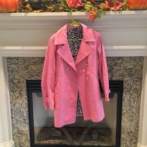Lightweight pink trench coat size Small