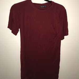GENTLY USED RUBY RED T SHIRT DRESS