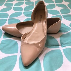Cathy Jean Beige Pointed Flats