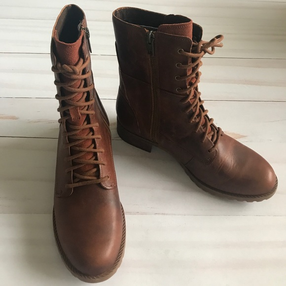 Timberland Womens Leather Lace Up Boots