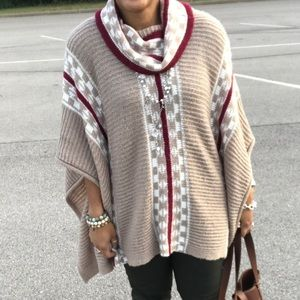 Sweaters - Turtle neck poncho