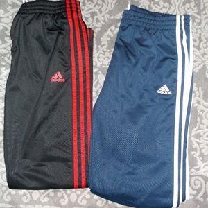 2 BOY'S Adidas Stripe Designator Youth track Pants