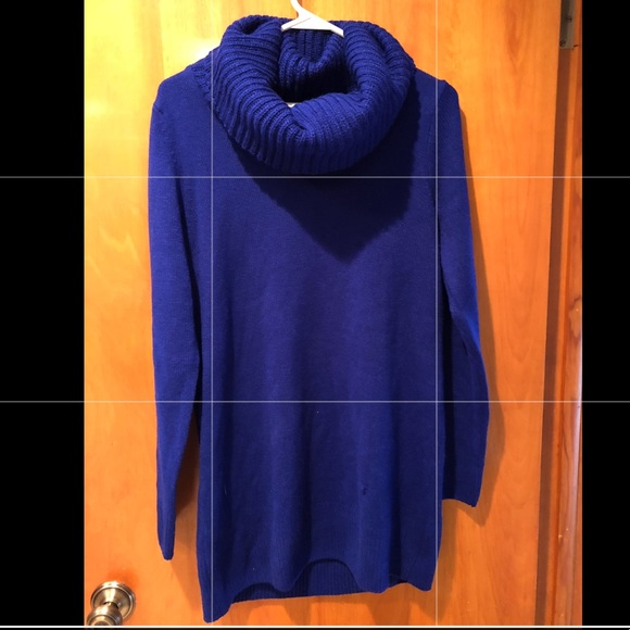 73% off H&M Sweaters - H&M Women's royal blue cowl neck sweater ...