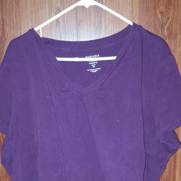 110ce42b Sonoma Tops | Plus Size Purple V Neck Everyday Tee | Poshmark