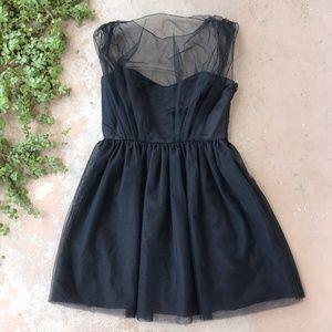 Kara Janx Little Black Mesh Tulle Cocktail Dress