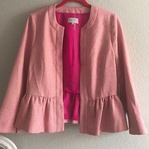 1. State peplum tweed blazer