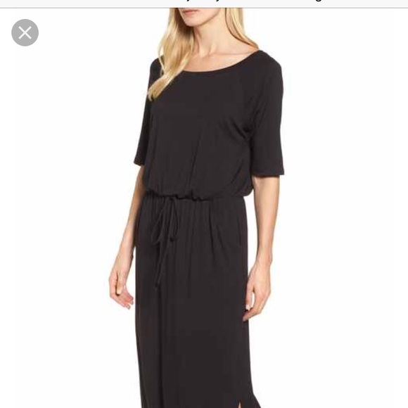 ccf739ffab7 Caslon Dresses & Skirts - Caslon Medium Petite drawstring jersey maxi dress