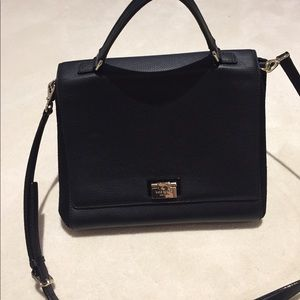 Kate Spade black leather and suede cross body