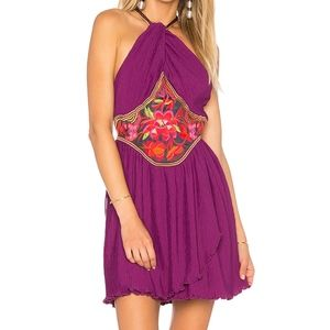 Free People Marcella Halter Mini Dress SZ 12