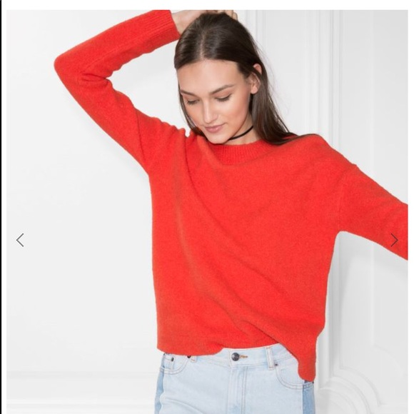 64% off & Other Stories Sweaters - & Other Stories Tomato Red ...