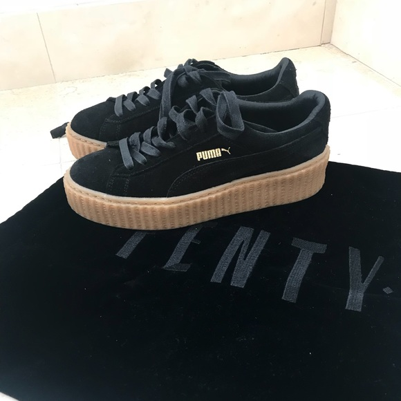 low priced 5395b 89fdb Black & Tan Fenty Creepers
