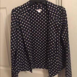 Blue with white polka dot jacket!