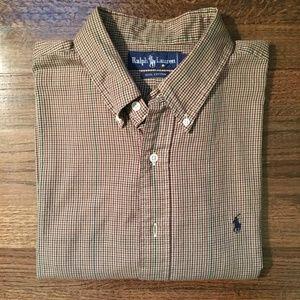 Ralph Lauren Brown Check Oxford Shirt