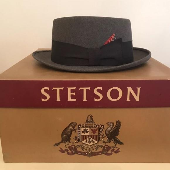 bb52ac31a45 Men s Vintage Stetson Fedora Hat Original Box 50s.  M 59ff71be41b4e0be370e8924
