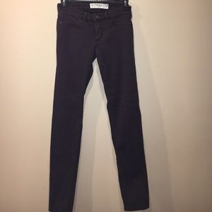 Abercrombie & Fitch Jeans - Abercrombie dark brown skinny jeans