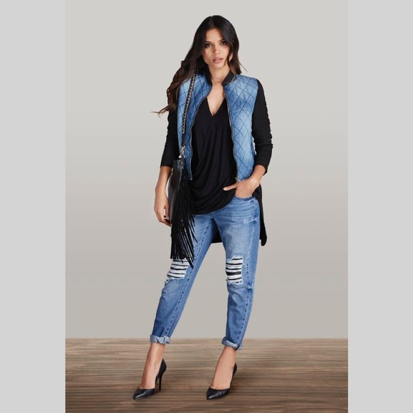 JustFab Jackets & Blazers - Quilted Bomber Jacket