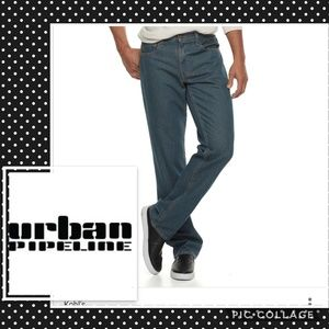 Urban pipeline relaxed straight jeans 40