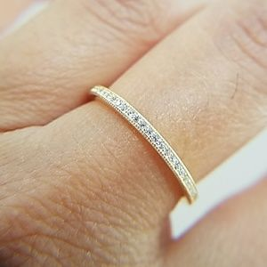 Jewelry - Yellow Gold plated Eternity Wedding Band