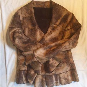 NWT ruffle coat