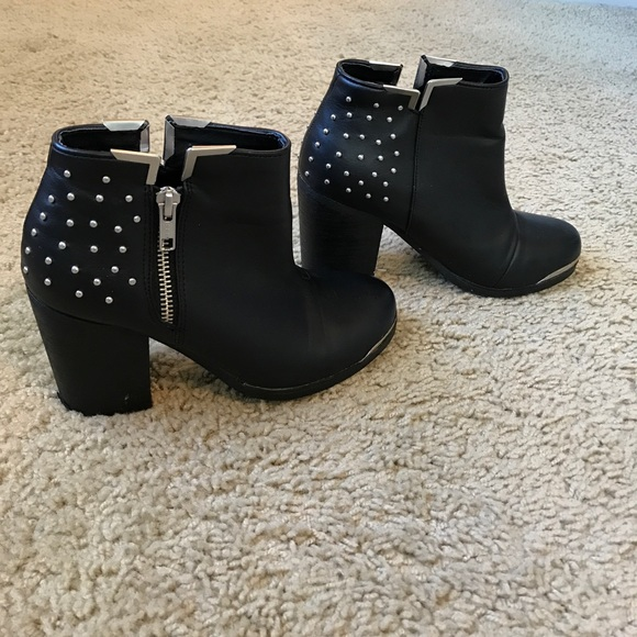ad0509a9b MTNG Shoes | Black Studded Ankle Boots | Poshmark