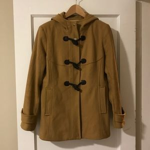 Michael kors wool pea coat with hood