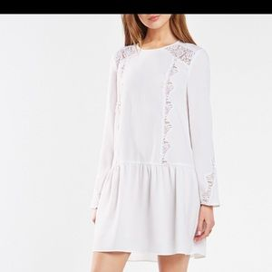 NWT BCBG Jayn Lace-Trim White Dress
