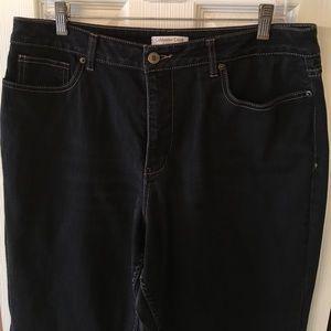 Coldwater Creek black stretch jeans, size 16
